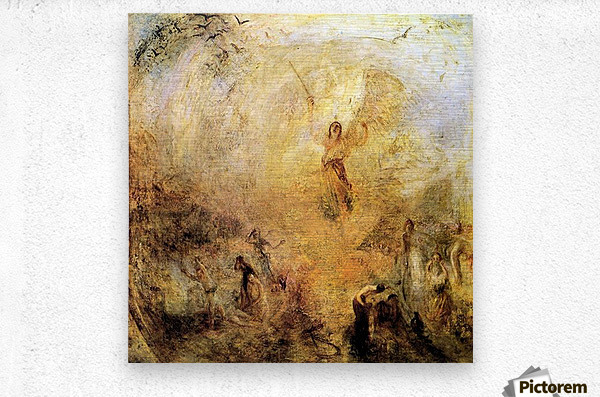 Angel in the sun by Joseph Mallord Turner  Metal print