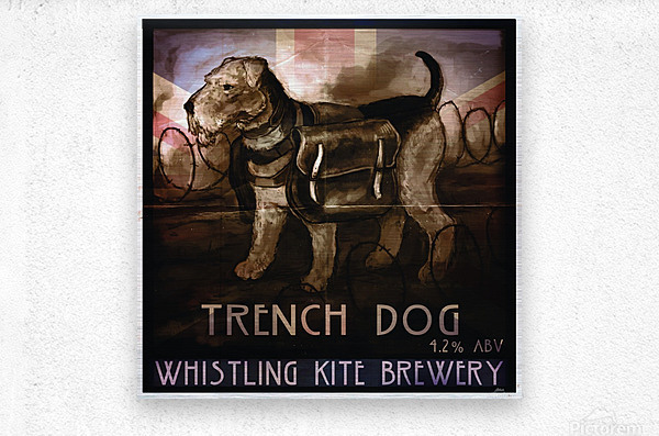 Whistling Kite Brewery: Trench Dog  Metal print