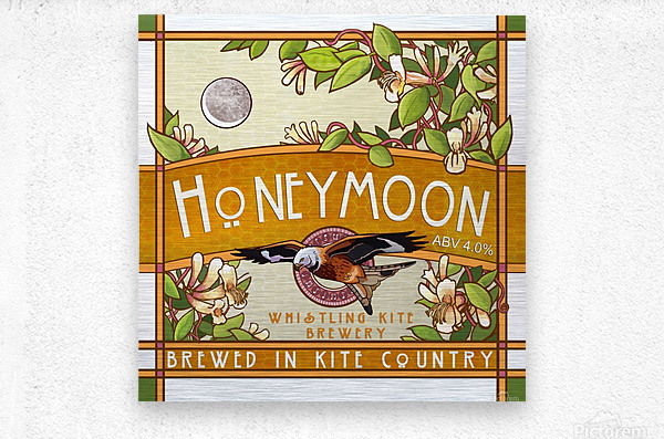 Whistling Kite Brewery: Honeymoon  Metal print