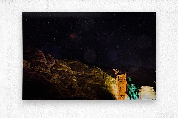 Starry Night - Al-Ula Monuments Saudi Arabia  Metal print