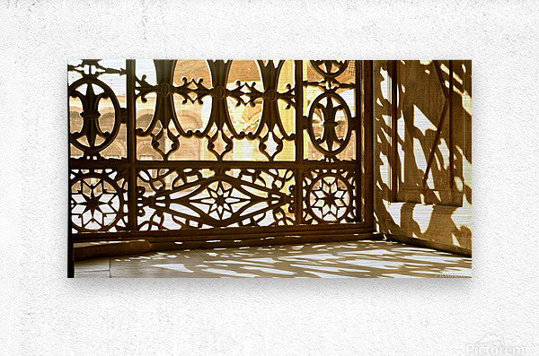 Egyptian Heritage Architecture Light & Shadow  Metal print