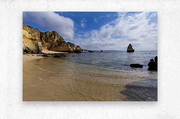 Praia do Camilo  Metal print