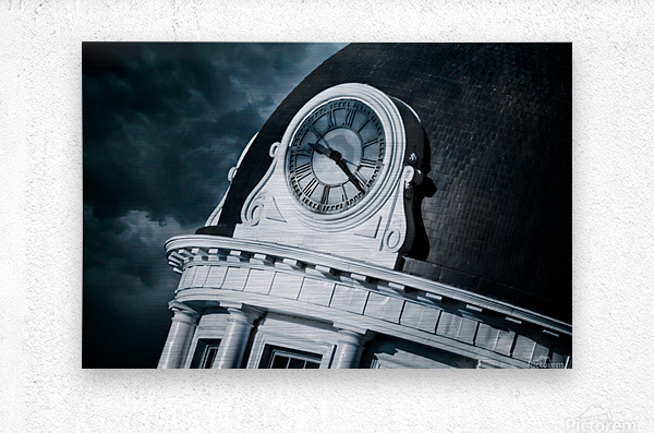 Kingstons Clock  Metal print