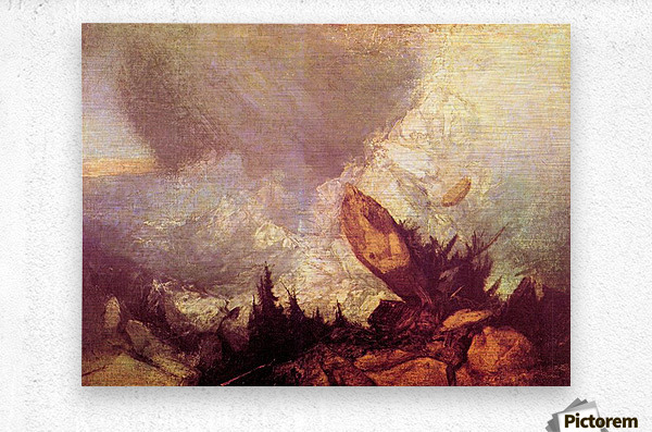 Avalanche by Joseph Mallord Turner  Metal print