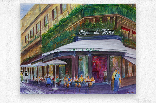 Cafe The Flore Paris  Metal print