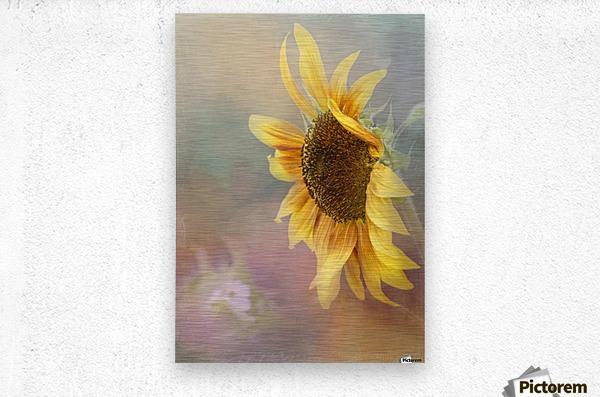 Be The Sunflower - Sunflower Art by Jordan Blackstone  Metal print