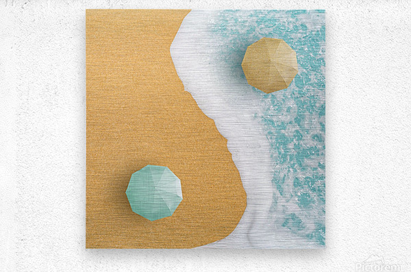 Yin and Yang.  Metal print