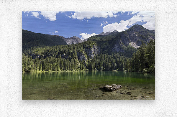 Lake of Tovel  Metal print
