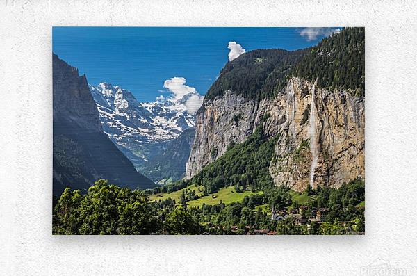 Valley of Waterfalls  Metal print