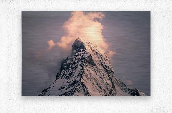 Matterhorn Glow  Metal print
