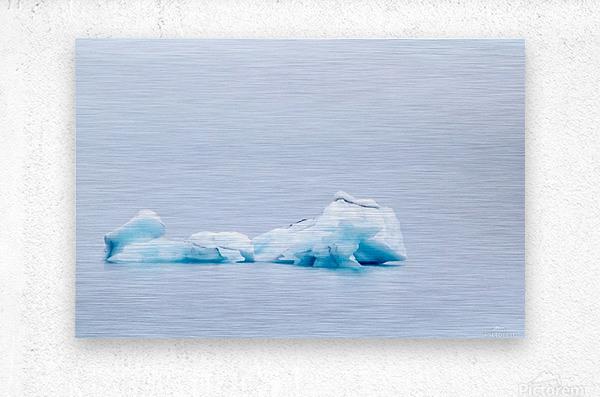 Iceberg Images - Alaska  Metal print