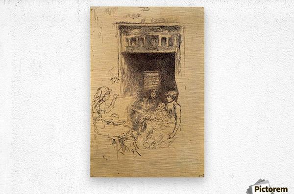 Bead Stringers by Whistler  Metal print