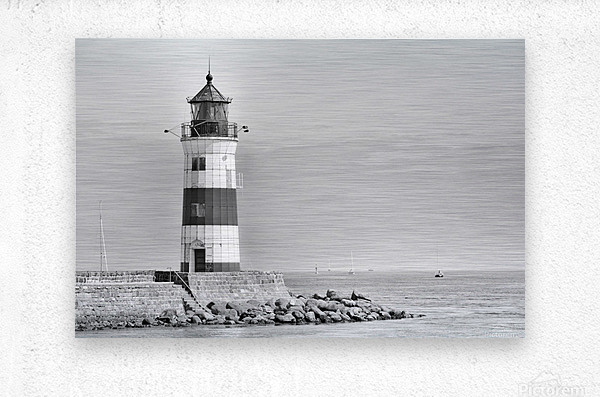 Lighthouse Maasholm  Metal print