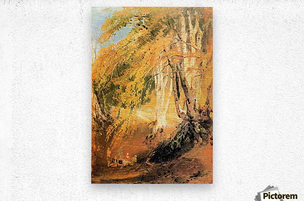 Beech woods with Gypsies 2 by Joseph Mallord Turner  Metal print