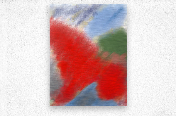 Abstract-red flame  Metal print
