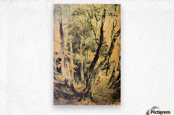 Birch woods with Gypsies by Joseph Mallord Turner  Metal print