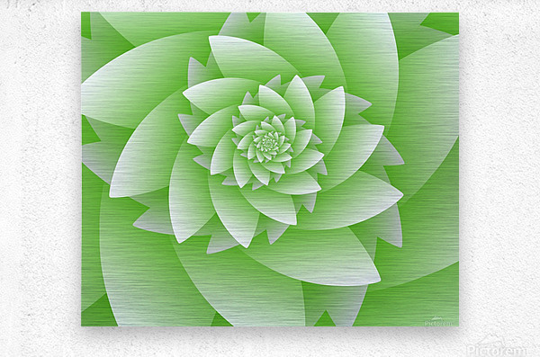 Greeny Floral  Metal print