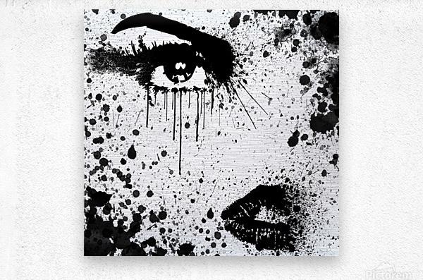 Abstract Girl  Metal print