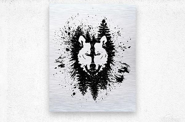 Absract Wolf  Metal print