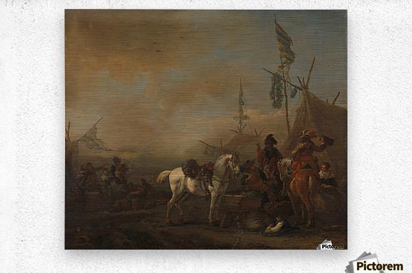 Een legerkamp Rijksmuseum  Metal print