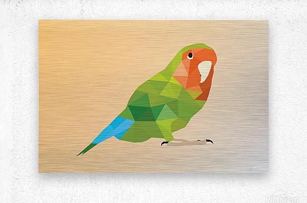 Parrot LOW POLY ART   Metal print