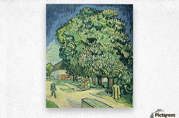 Blossoming chestnut tree by Van Gogh  Metal print