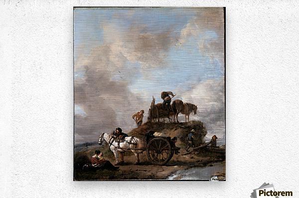 Peasants in the Fields  Metal print