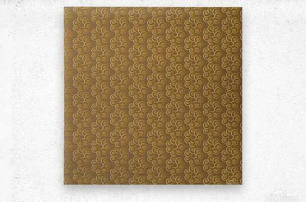Swirl Flower Seamless Pattern Artwork  Metal print