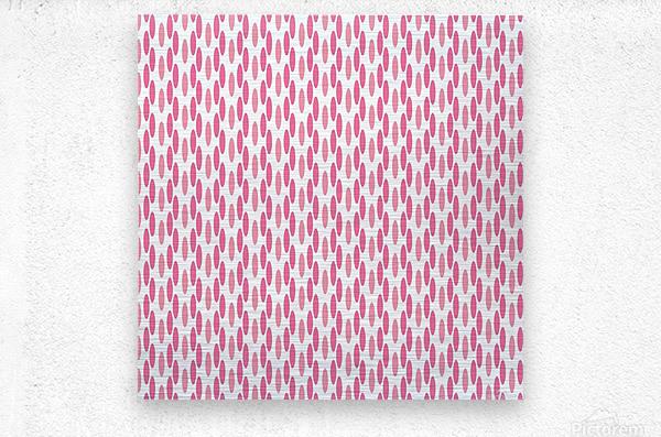 Pink Seamless Pattern Artwork  Metal print