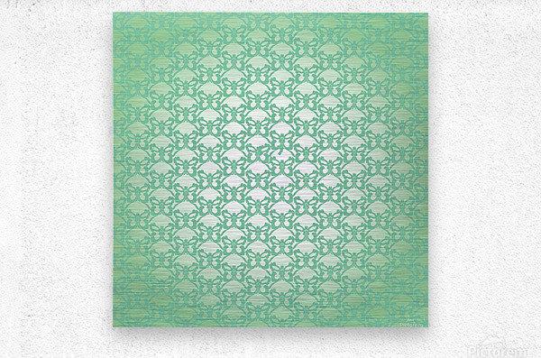 Ornamental Art Pattern Artwork  Metal print