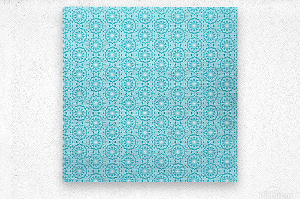 Islamic Blue Art   Metal print