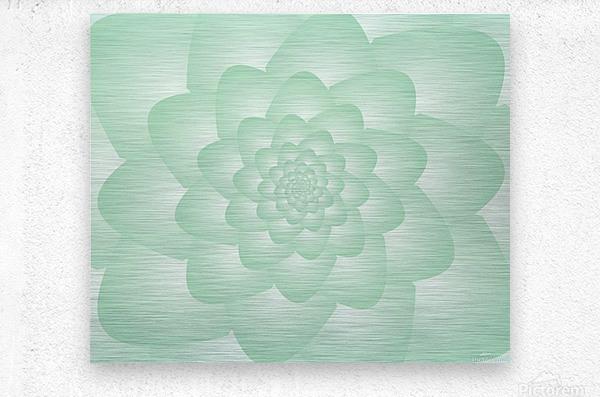 Pastel Green Art  Metal print