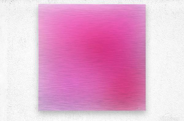 Rose Gradient Background  Metal print