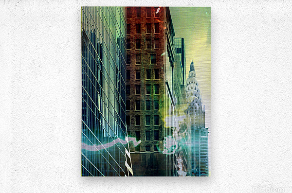 New York Street  Metal print