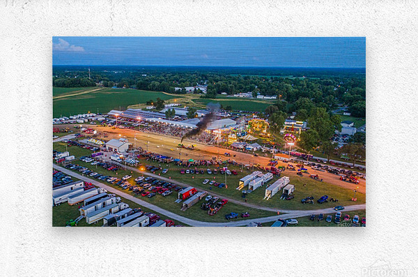 2017 Schuyler Co Fair Tractor Pull  Metal print