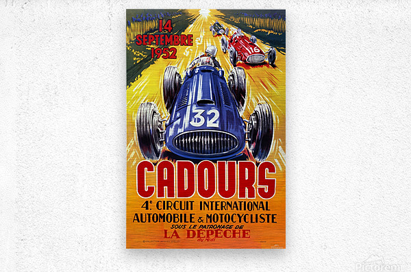 Cadours 4th Circut International 1952  Metal print