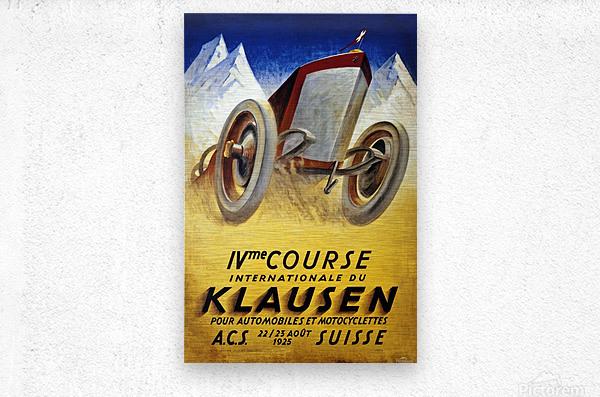 Klausen Suisse Ivme Course Internationale Acs 1925  Metal print