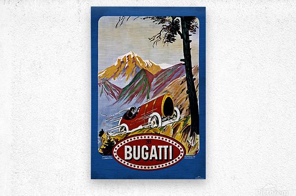 Bugatti Type 9 Prince Henri Affiche Golf Lyon 1911  Metal print