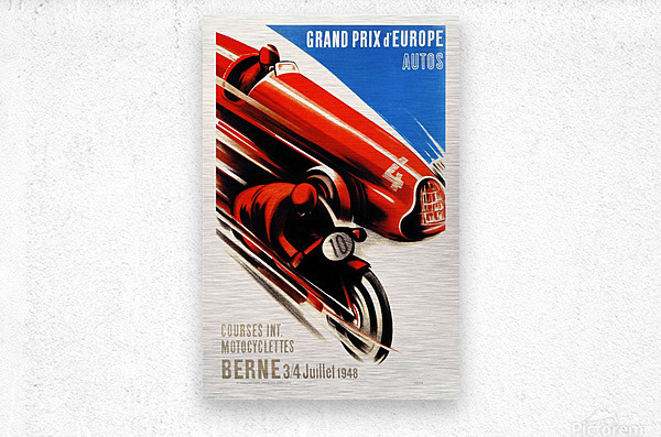 Berne Grand Prix d'Europe Autos 1948  Metal print