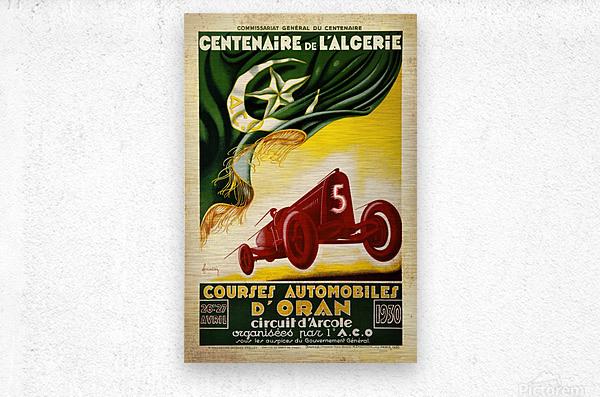 Centenaire L'Algerie Courses Automobiles D'Oran 1930  Metal print