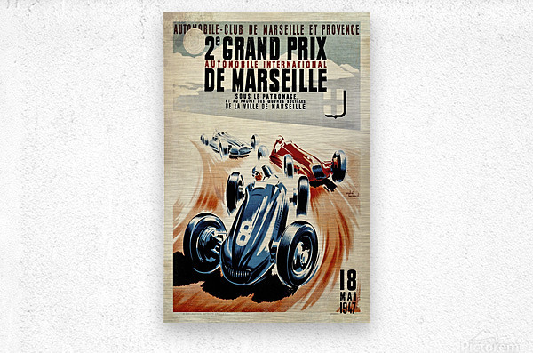 Marseille 2nd Grand Prix Automobile International 1947  Metal print