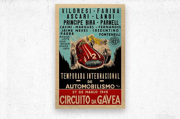 Gavea Circuit Circuito Gavea 1949 Temporada Internacional De Automobilisimo 1949  Metal print