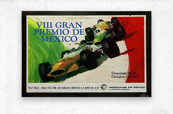 Mexico Grand Prix VII Gran Premio De Mexico 1969  Metal print