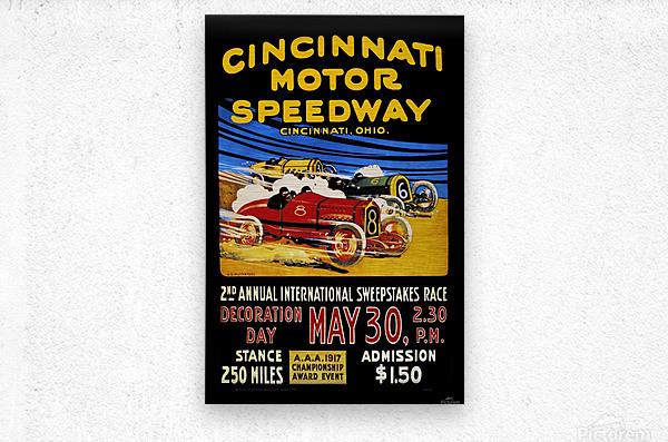 CincIInnati Motor Speedway 2nd Annual International Sweepstakes Race 1917  Metal print