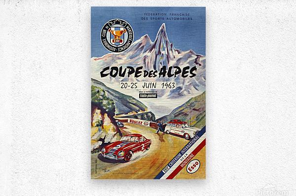 Coupe Des Alpes Federation Francaise Des Sports Automobiles 1963  Metal print