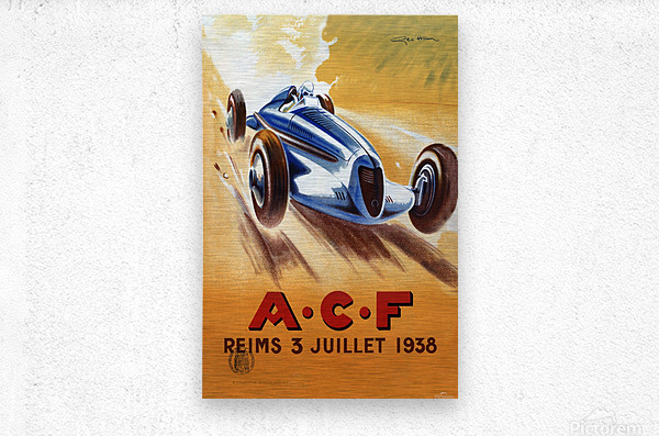 ACF Reims 3 Juillet 1938  Metal print