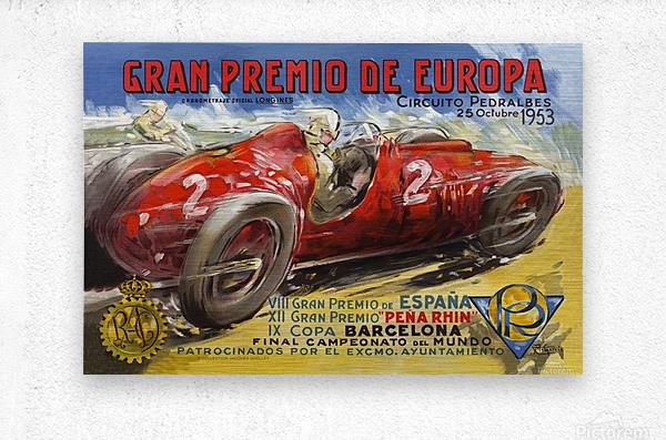 Gran Premio De Europa VII Espana XII Pena Rin IX Barcelona 1953  Impression metal
