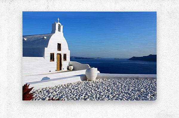 S A N T O R I N I - Greece  Metal print