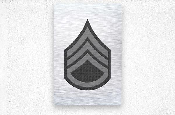Staff Sergeant  Metal print
