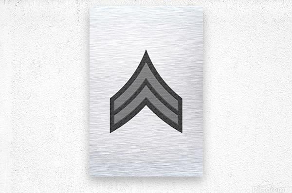 Corporal  Metal print